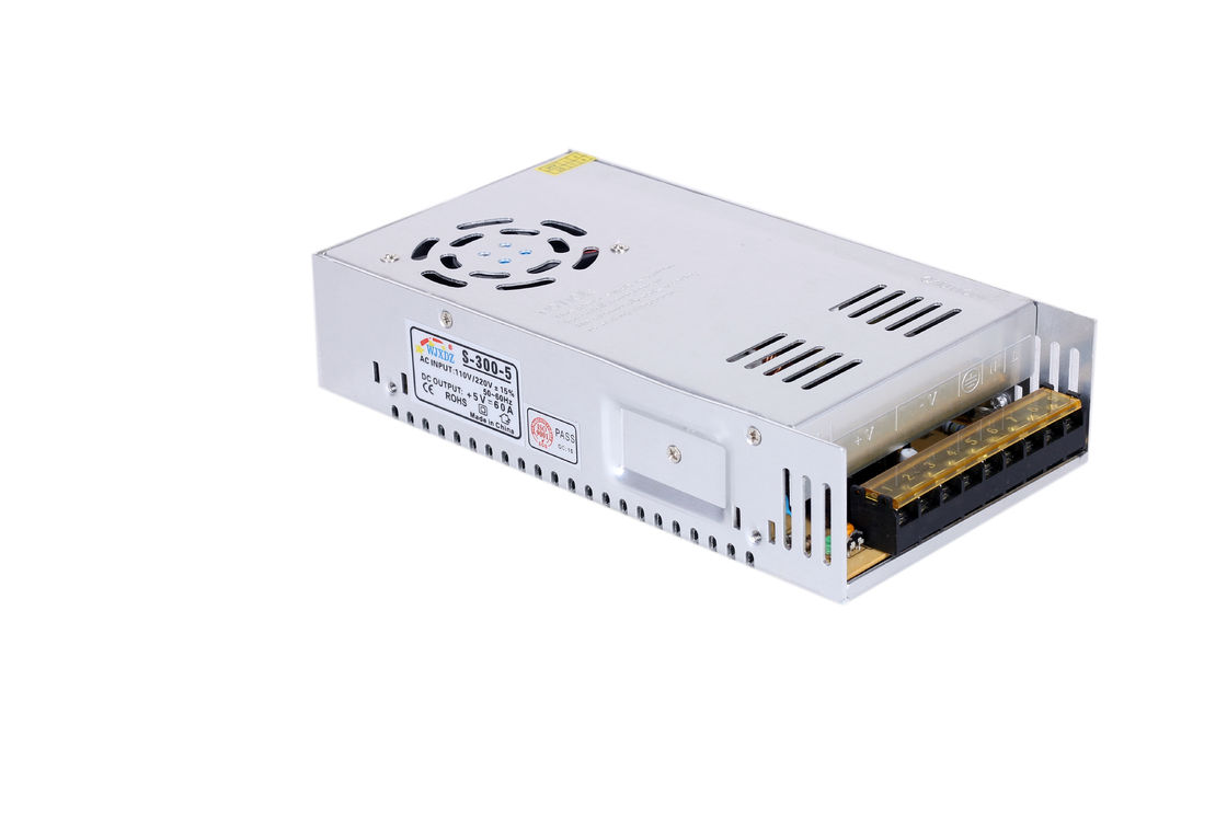 300W 5V AC Input 5 Volt Switching Power Supply For Led Display , 2 Years Warranty